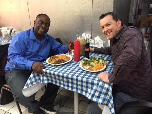 David Curtis and I having lunch 2016