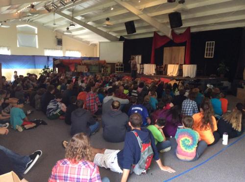Big Crowd preaching dunes 2016